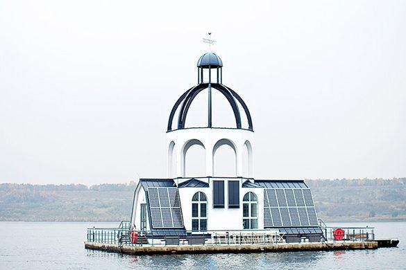 schwimmende Kirche Vineta auf dem Störmthaler See