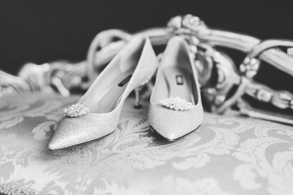 Details der Brautschuhe