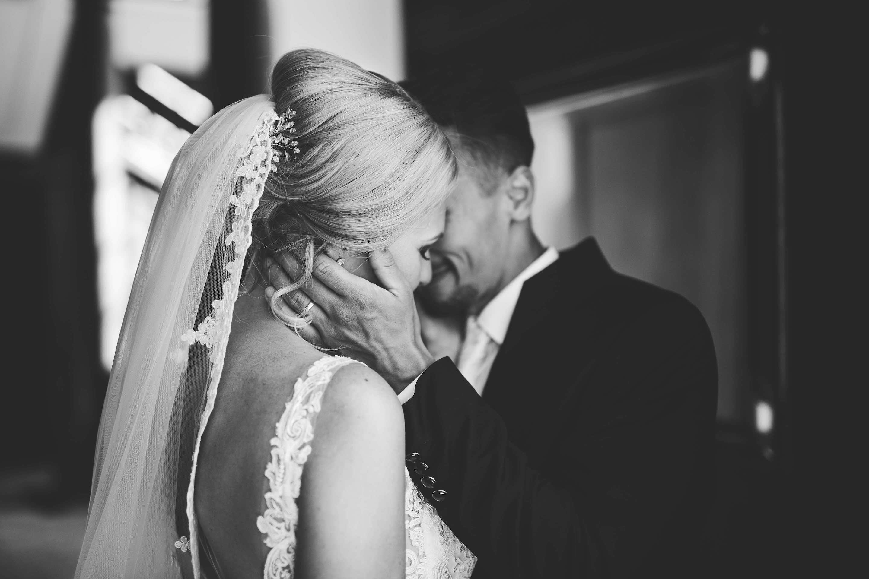 traute Zweisamkeit des Brautpaares