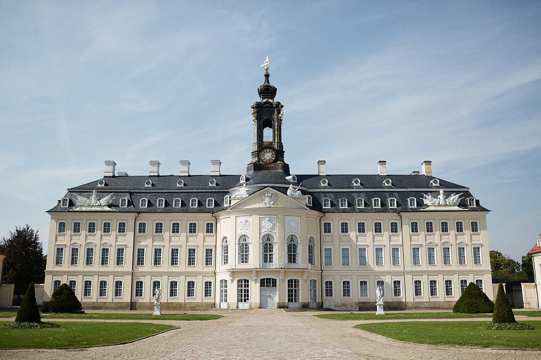 Außenansicht des Schloss Hubertusburg